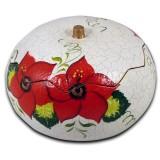 Boîte à bijoux modèle fleurs rouges des Andes