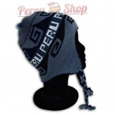 Bonnet péruvien enfant bleu