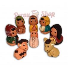 Crèche péruvienne en miniature modèle cuzqueño