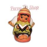 Pendentif déco sapin modèle crèche péruvienne ange avec bible