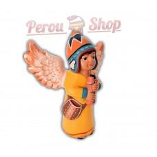 Ange de noël péruvien modèle flûte des Andes
