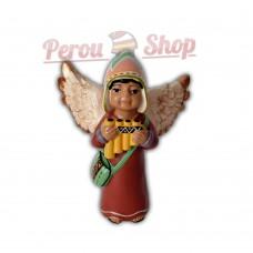 Ange de noël péruvien modèle flûte de pan des Andes