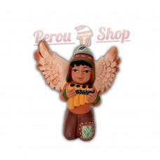 Ange de noël péruvien modèle flûte de pan andine