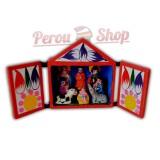 Retable péruvien en miniature modèle crèche péruvienne taille 7,5 cm