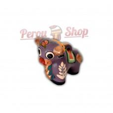 Mini taureau de Pucara couleur violet