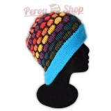 Bonnet adulte multicolore bleu