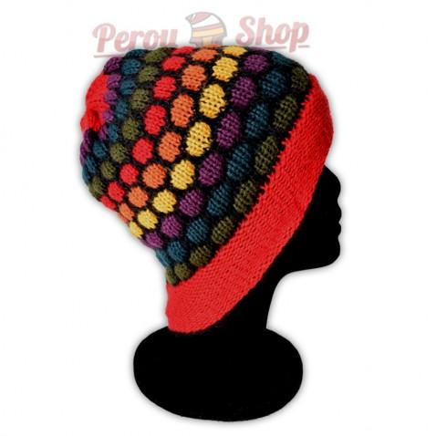 Bonnet adulte multicolore rouge