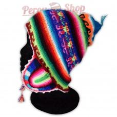 Bonnet péruvien multicolore adulte