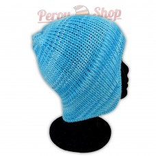 Bonnet péruvien modèle Pérou couleur turquoise