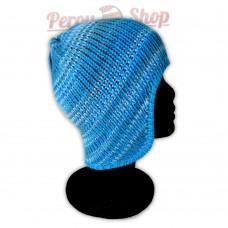 Bonnet péruvien modèle Pérou couleur turquoise gris