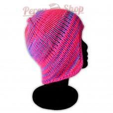 Bonnet péruvien modèle Pérou couleur fuschia multicolore