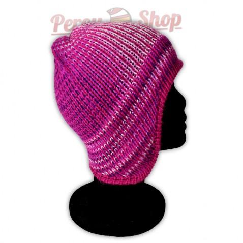 Bonnet péruvien modèle Pérou couleur lilas