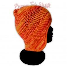 Bonnet péruvien modèle Pérou couleur orange