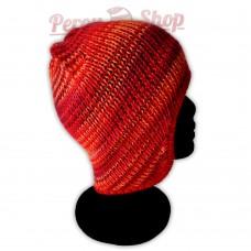 Bonnet péruvien modèle Pérou couleur rouge