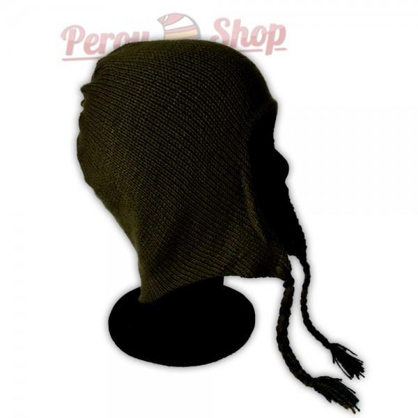 bonnet p ruvien r versible couleur vert canard bonnet. Black Bedroom Furniture Sets. Home Design Ideas