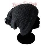Bonnet beanie couleur gris foncé