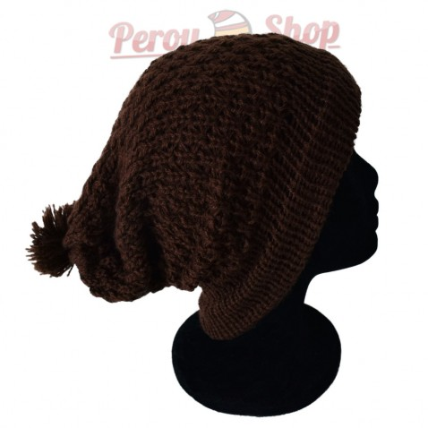 Bonnet beanie couleur marron