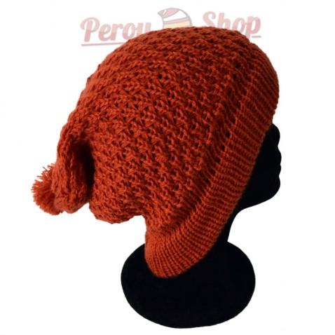 Bonnet beanie couleur orange
