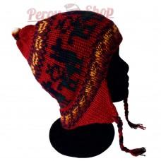 Bonnet Péruvien rouge