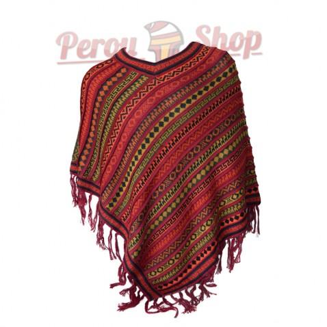 Poncho péruvien modèle Cuzco