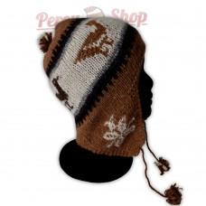Bonnet Péruvien en laine d'alpaga des Andes