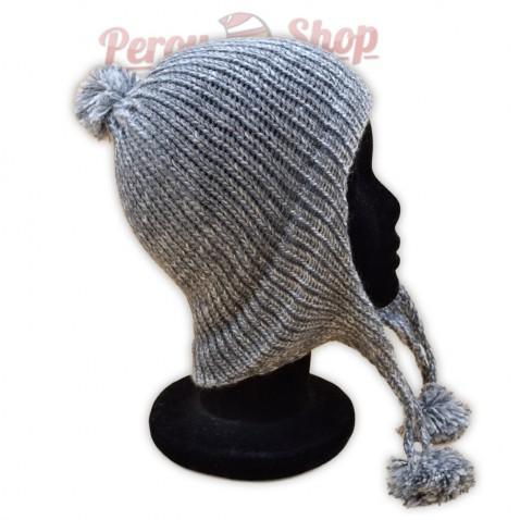 Bonnet péruvien gris clair