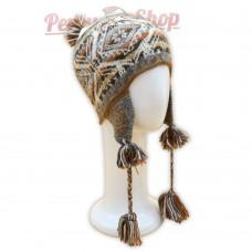 Bonnet Péruvien en véritable laine d'alpaga
