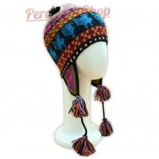 Bonnet Péruvien en laine d'alpaga des Andes Péruviens