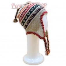 Bonnet Péruvien en laine d'alpaga modèle Inca