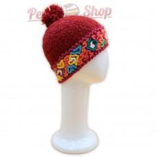 Bonnet baby alpaga couleur rouge