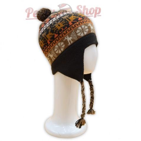 Bonnet Péruvien en laine d'alpaga pour homme ou femme