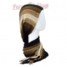 Echarpe bonnet en alpaga