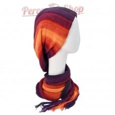 Echarpe bonnet en alpaga modèle Arequipa