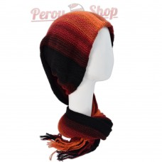 Echarpe bonnet en alpaga modèle Cuzco