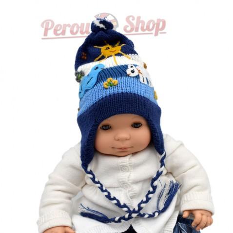 Bonnet péruvien bébé garçon