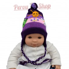 Bonnet péruvien bébé fille