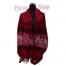 Étole laine alpaga rouge
