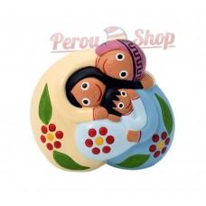 Crèche des Andes Péruviennes modèle Sagrada famille