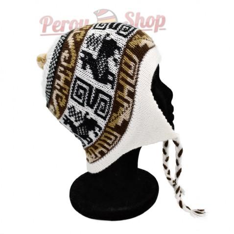 Bonnet Péruvien blanc