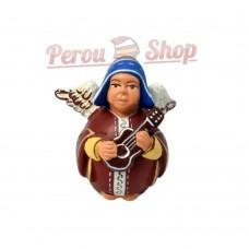 Ange de noël péruvien modèle chullo bleu