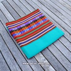 Tissu péruvien couleur Turquoise