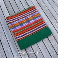 Tissu péruvien couleur vert