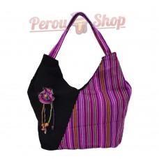 Sac à main en tissu péruvien couleur violet
