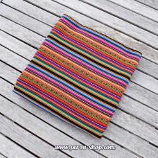 Tissu péruvien multicolore
