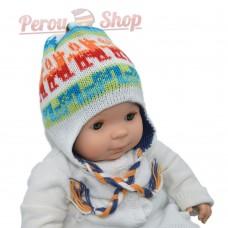 Bonnet péruvien bébé réversible modèle wawita
