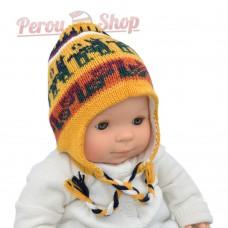 Bonnet peruvien bébé garçon ou fille. Bonnet péruvien réversible multicolore