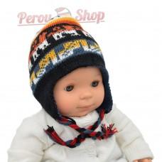 Bonnet péruvien bébé garçon réversible modèle Perú