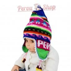 Bonnet péruvien multicolore pour bébé