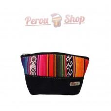 Porte monnaie ethnique multicolore en tissu péruvien