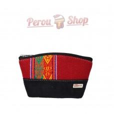 Porte monnaie fait main en tissu péruvien modèle Cusco